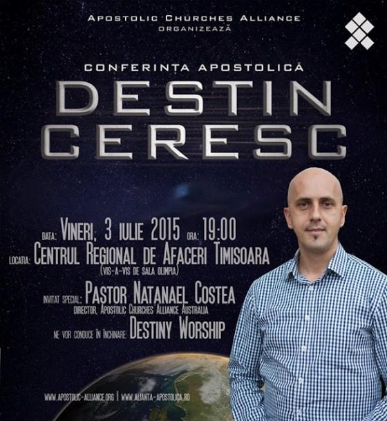 CONFERINTA APOSTOLICA DESTIN CERESC TIMISOARA 2015