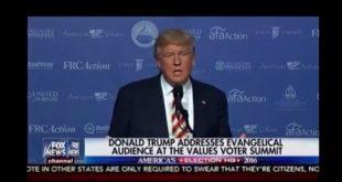 Donald Trump: Sa-i redam, Bisericii, vocea sa!