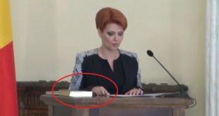 Lia Olguța Vasilescu a REFUZAT să depună jurământul cu MÂNA PE BIBLIE!