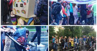 Revoltător! Copii folosiți pentru propaganda homosexualității la marșul din București